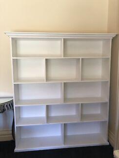 Wooden white shelves