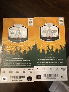 Grey Cup Tickets w/parking pass