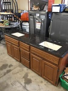 "72"" vanity with granite top"