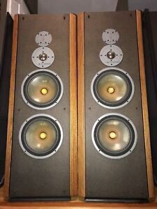 Refoamed '85 INFINITY RS IIIB Enormous Tower Speakers USA Made