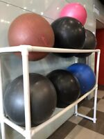 Exercise Balls and Rack