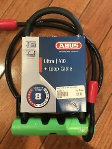 Abus ultra 410 u and cable bike lock