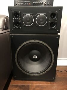 """Audiosphere Research Monitor 18L. 18"""" WOOFERS  speakers"""