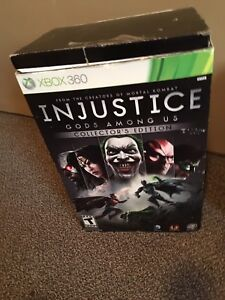 Xbox 360 collectors edition Injustice. Statue , DVD and box $25