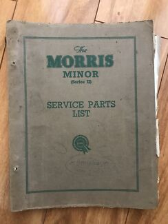 Morris Minor Series II Service Parts List 1955 4th Issue