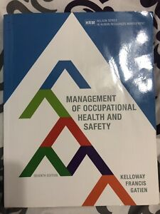 Management of Occupational Health &Safety - 7th edition
