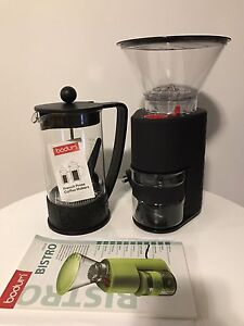 Bodum electric burr coffee grinder and French press Maylands Bayswater Area Preview