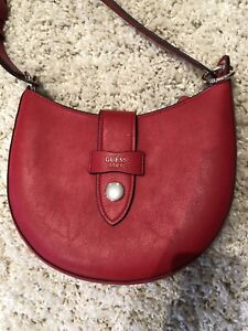 GUESS red leather bag