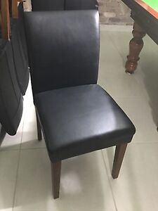 Set of 10 Black Leather dining chairs Mount Riverview Blue Mountains Preview