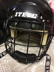 Used hockey helmets