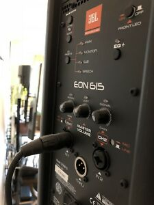 JBL speaker EON615 and mixer