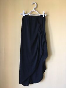 Midi Skirt with Asymmetrical Hem (S)