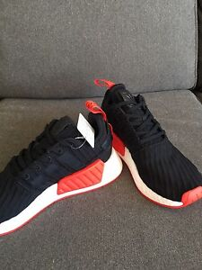 Adidas NMD r2 PK black/red - size 10