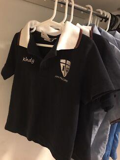 John Paul college kindergarten polo shirts size 4