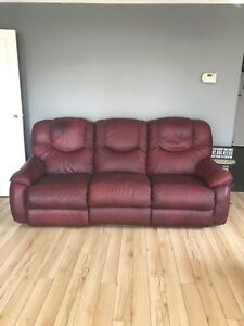 Free leather lazy boy couch