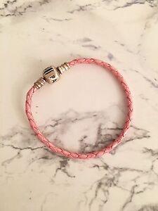 MINT- pandora genuine leather bracelet