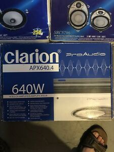 Clarion amp and speakers