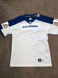 Brand New Blue Bombers Away Jersey - Size Medium