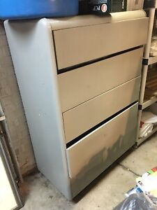 Gray chest of drawers for storage