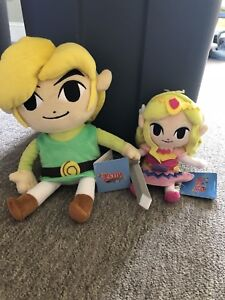 Legend of Zelda stuffed Zelda and Link