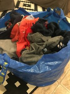 Large Ikea bag of EUC baby boy clothes from BabyGap Carters etc