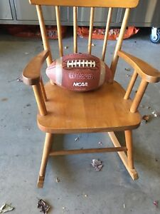Antique Kids rocking chair - solid wood