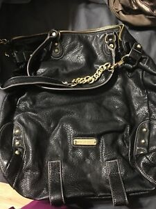 Steve Madden black and gold purse