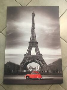 Eiffel Tower with red car