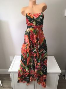 NICOLE MILLER STRAPLESS DRESS / GOWN - 10 S SMALL M MEDIUM - NWT