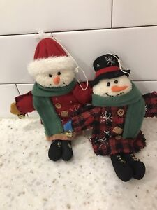 Snowman ornaments brand new