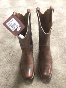 Brown Leather Cowboy Boots size 9.5 women