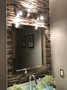 Powder Room/Bathroom Mirror + Sport Lights