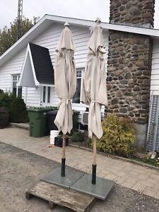 ⛱ parasol en Teak