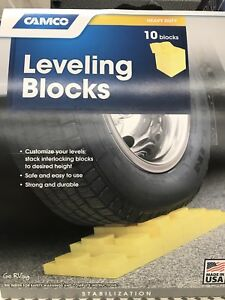 Camco trailer leveling blocks