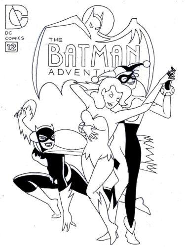 BATMAN ADVENTURES # 12 ALTERNATE COVER RECREATION OF 1ST HARLEY QUINN
