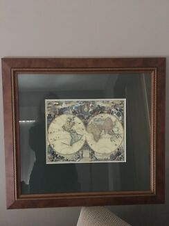 Ikea framed world map art gumtree australia melbourne city framed map gumiabroncs Image collections