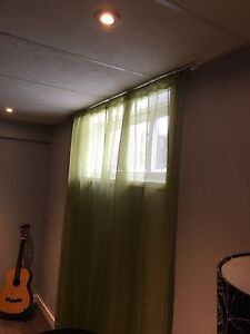 Apple green sheer curtains