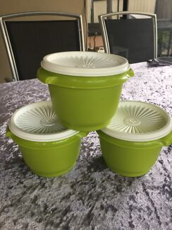 Tupperware Lime Green Containers