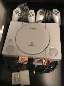 Sony PlayStation 1 Video Game System with 2 Controllers