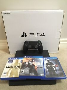 PS4 SLIM 500GB WITH GAMES