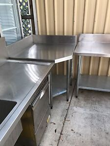 Stainless Steel Corner Bench Mount Coolum Maroochydore Area Preview