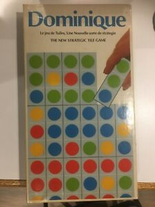 Dominique: The New Strategic Tile Game - Vintage Board Game 1980