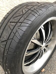 """20""""Deep dish wheels & 2 sets tires to choose from"""
