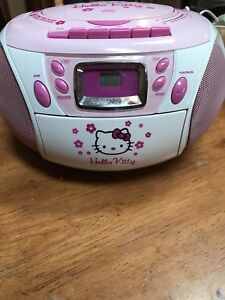 Hello Kitty Boom Box with Cassette Player/Recorder