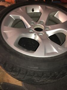 BMW X1.  Wheels and snow tire package