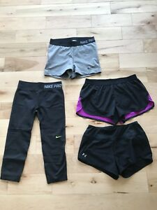 Vêtements de sport Nike Under Amour et Asics