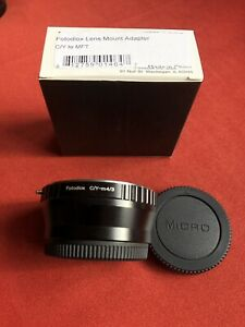 Fotodiox ( Manual lens mount) adapter 4/3 to C/Y