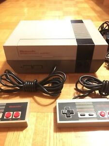 NES Console two controller one game