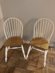 Two sturdy wooden chairs $20each