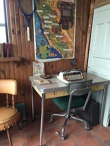 Retro desk or table has drawer & extends $135